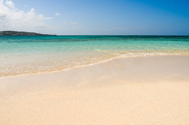 Tropical beach, Prickly Pear islet, Antigua, Caribbean:スマホ壁紙(壁紙.com)