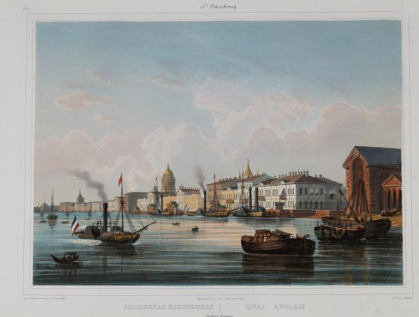Neva River「The English Embankment In Saint Petersburg 1840s」:写真・画像(10)[壁紙.com]