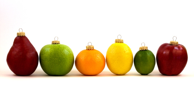 Orange - Fruit「Fruit Christmas Ornament Line Up」:スマホ壁紙(5)