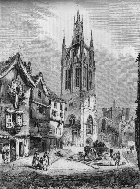 St Nicholas Church, Newcastle-upon-Tyne', 1845:ニュース(壁紙.com)