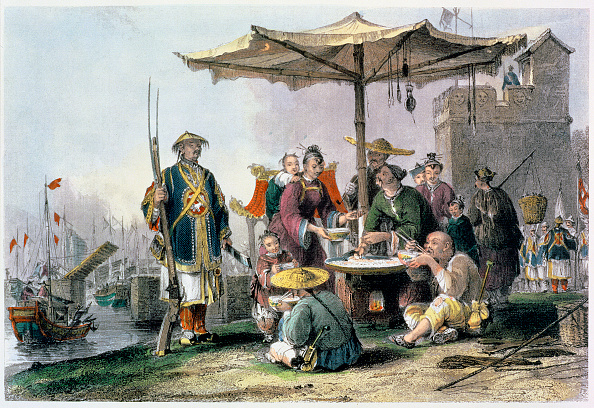 Umbrella「Rice Sellers At The Military Station Of Tong-Chang-Too' China 1843」:写真・画像(19)[壁紙.com]