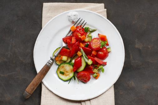 Dining Table「Plate of mediterranean vegetables」:スマホ壁紙(17)