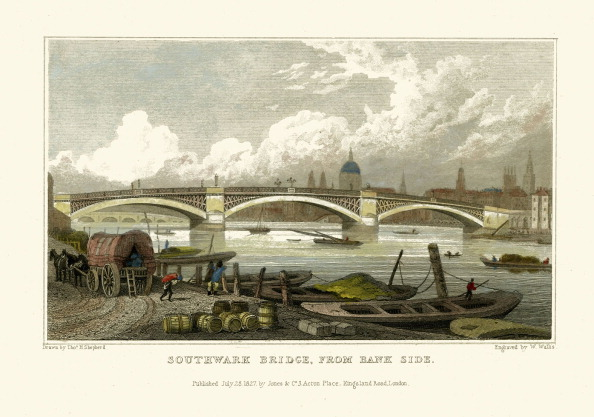 Regency Style「London Views:  Southwark Bridge, from Bank side」:写真・画像(13)[壁紙.com]