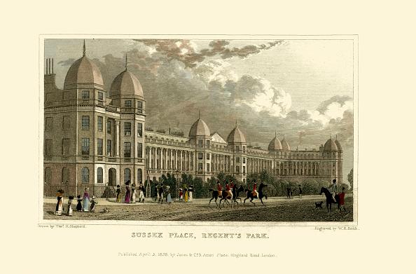 Regency Style「London Views:  Sussex Place, Regent's Park.」:写真・画像(18)[壁紙.com]