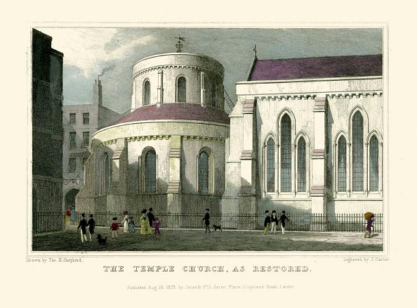 Regency Style「London Views:  The Temple Church, as restored.」:写真・画像(12)[壁紙.com]