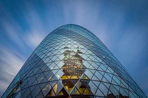 Sir Norman Foster Building「UK, London, view to facade of Swiss-Re-Tower from below」:スマホ壁紙(17)
