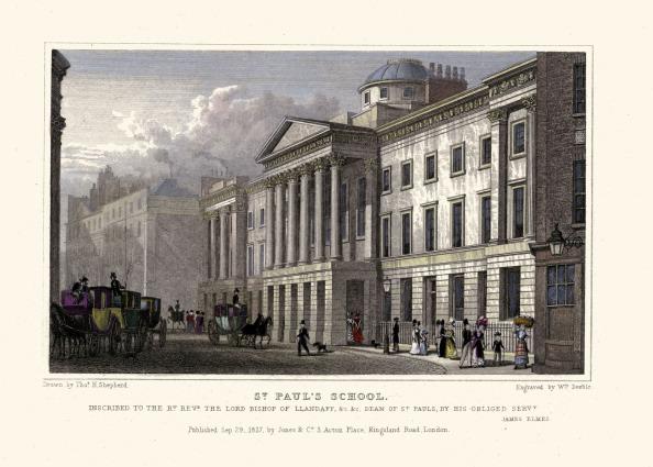 Regency Style「London Views:  St. Paul's School.」:写真・画像(14)[壁紙.com]