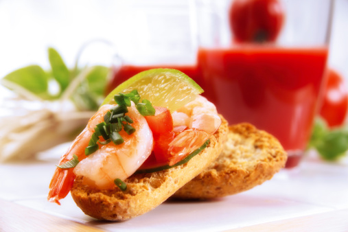 Vegetable Juice「Crispbread with shrimps」:スマホ壁紙(13)