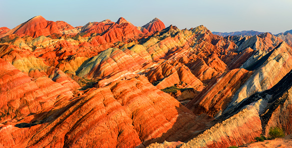 Steep「Danxia landform of Zhangye City,Gansu Province,Chins」:スマホ壁紙(13)