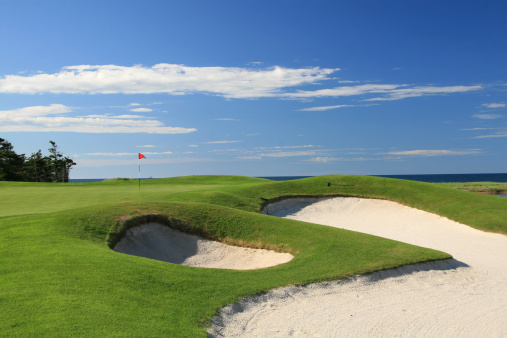 Sand Trap「Ocean Golf Course Scenic With Beautiful Bunkers」:スマホ壁紙(14)