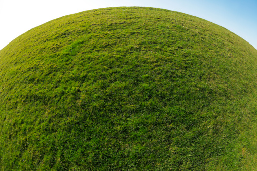 Convex「Green Planet Earth. Sphere Grass Background」:スマホ壁紙(11)