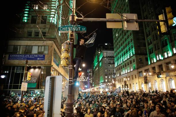 Philadelphia Eagles' Fans Gather To Watch Their Team In Super Bowl LII Against The New England Patriots:ニュース(壁紙.com)