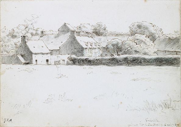 Jean Francois Millet「View Of Farm Buildings Across A Field」:写真・画像(11)[壁紙.com]