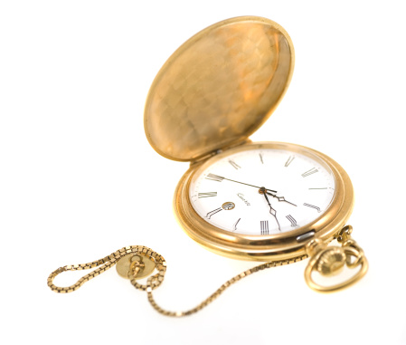 Pocket Watch「golden pocket watch isolated on white」:スマホ壁紙(4)