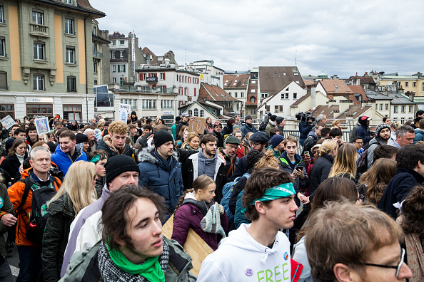 Vaud Canton「Greta Thunberg Joins Climate Protest Ahead Of Davos Summit」:写真・画像(14)[壁紙.com]