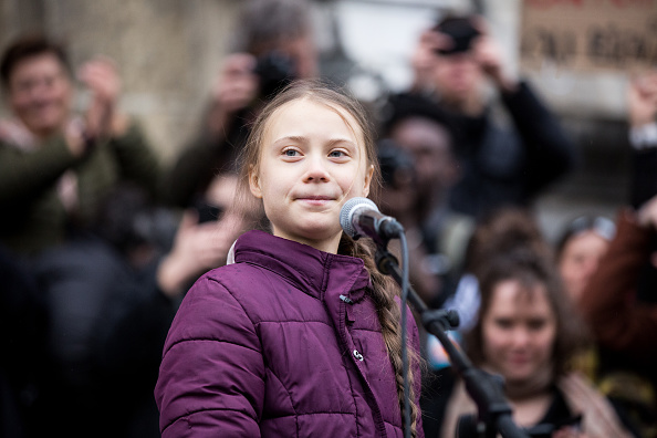 Activist「Greta Thunberg Joins Climate Protest Ahead Of Davos Summit」:写真・画像(7)[壁紙.com]