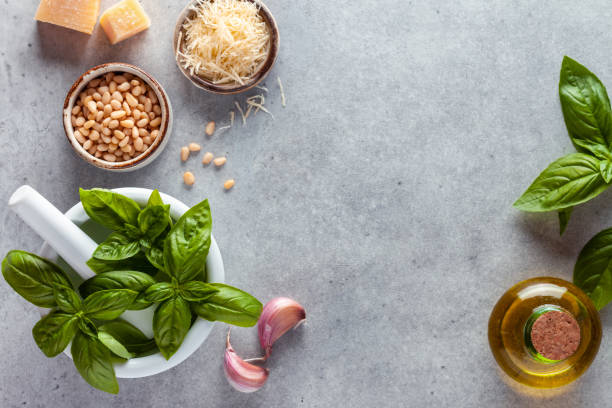 Pesto ingredients:スマホ壁紙(壁紙.com)