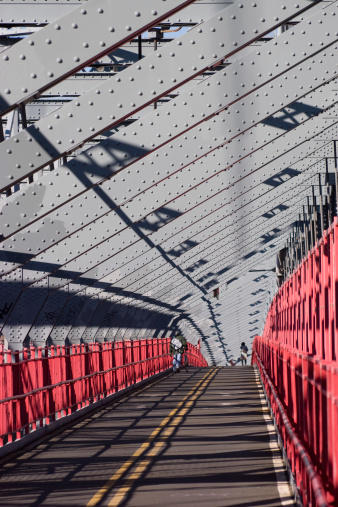 Footbridge「Williamsburg Bridge between Manhattan and Brooklyn in New York」:スマホ壁紙(6)