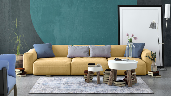 Template「Modern Nordic living room interior with sofa and lots of details」:スマホ壁紙(19)