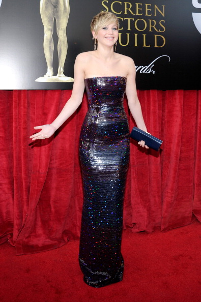 Strapless Evening Gown「20th Annual Screen Actors Guild Awards - Red Carpet」:写真・画像(1)[壁紙.com]