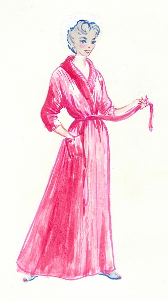 Bathrobe「Woman In Pink Dressing Gown」:写真・画像(17)[壁紙.com]