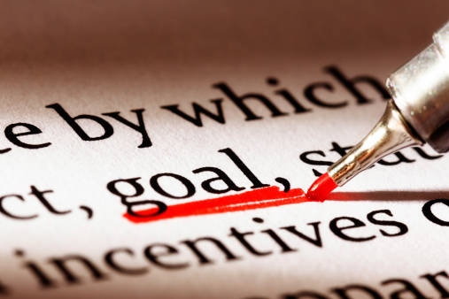 Underline「Red underscore emphasizes the word 'goal' in business document」:スマホ壁紙(1)