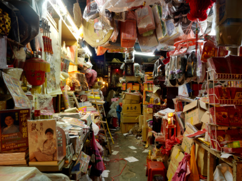 Night Market「A store front in Macau selling an array of things.」:スマホ壁紙(9)