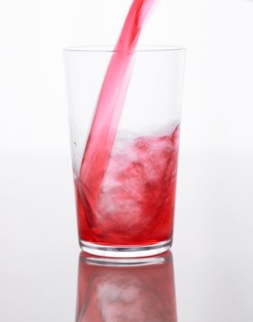 Cranberry Juice「Cranberry juice pouring in glass, close-up」:スマホ壁紙(19)