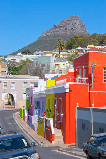 Malay Quarter「Lion?s Head mountain from Bo Kaap, Cape Town.」:スマホ壁紙(5)