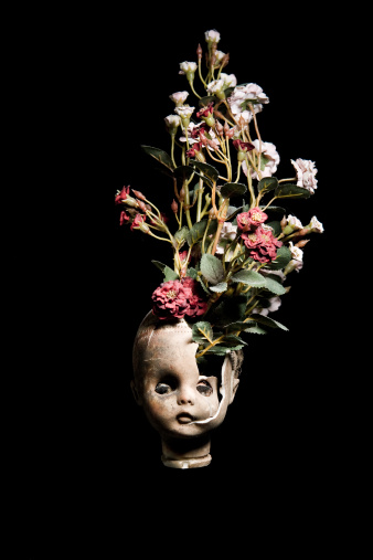 Doll「Flowers growing from a broken baby doll head」:スマホ壁紙(16)