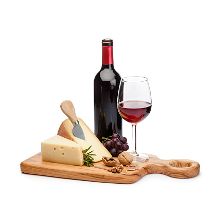 Cheese Knife「Cheese and wine platter isolated on white background」:スマホ壁紙(9)