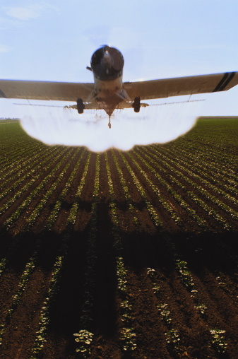 Insecticide「Crop-spraying aircraft above cotton field」:スマホ壁紙(17)