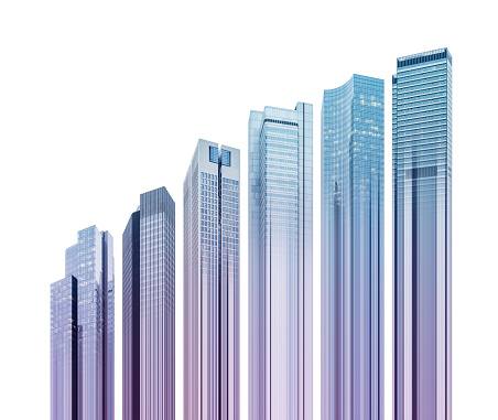 Digital Composite「Skyscraper graph」:スマホ壁紙(4)