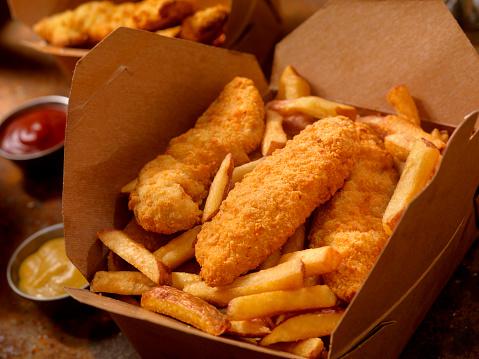 Pub Food「Chicken Strips with French Fries」:スマホ壁紙(13)