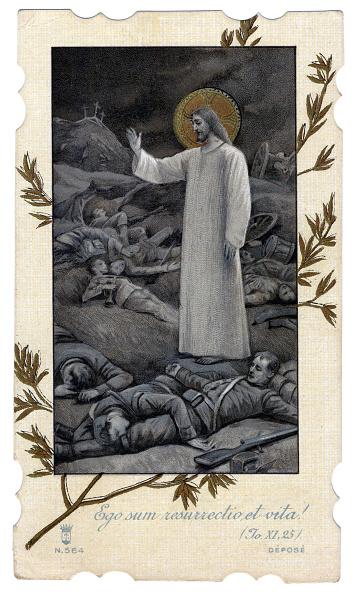 Chromolithograph「ITALY - 1915: Jesus Christ appears on the fallen on battlefield」:写真・画像(16)[壁紙.com]