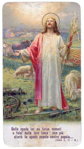 Fototeca Storica Nazionale「ITALY - 1915: Jesus Christ prays for peace between people, on battle field that becomes a pasture for the lambs」:写真・画像(6)[壁紙.com]