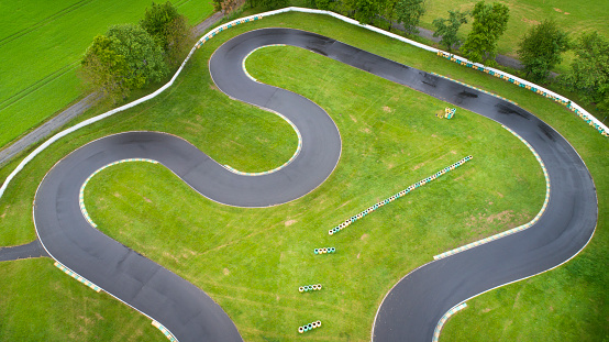 Motor Racing Track「Abstract aerial view of abandoned Go-Cart track」:スマホ壁紙(7)