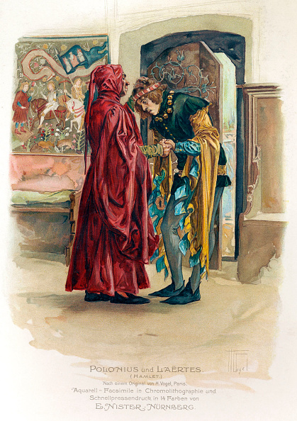 Illustration「Hamlet.  Polonius and Laertes after H. Vogel. Tragedy by William Shakespeare. English playwright」:写真・画像(19)[壁紙.com]