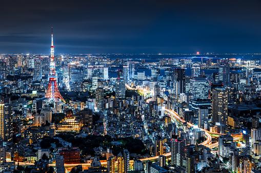 日本文化「東京の夜の街並み」:スマホ壁紙(9)