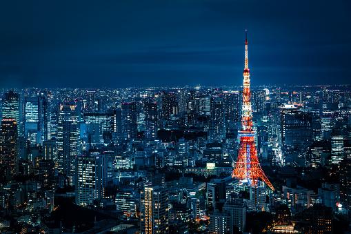 日本文化「東京の夜の街並み」:スマホ壁紙(10)