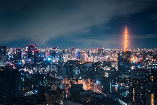 Tokyo Tower「Tokyo Skyline at Night」:スマホ壁紙(3)