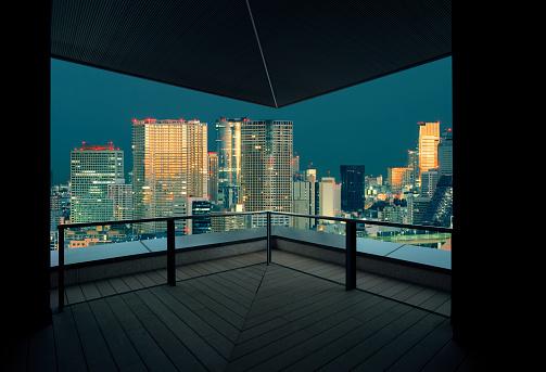 Corporate Business「Tokyo skyline at sunset, Japan」:スマホ壁紙(18)