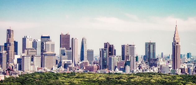 Ginza「Tokyo skyline panorama」:スマホ壁紙(18)