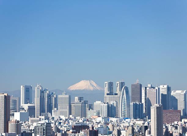新宿の後ろに見える富士山のまとめ:2009年01月01日(壁紙.com)