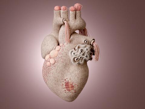 Healing「Knit heart」:スマホ壁紙(11)