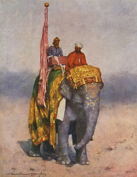 Painting - Activity「Wealthy man sitting in a howdah atop a costumed elephant」:写真・画像(8)[壁紙.com]