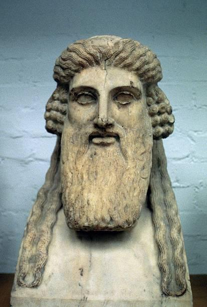 Bust of Dionysius, Greek god of wine:スマホ壁紙(壁紙.com)