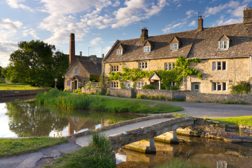 Cotswolds「Stone Bridge and Cottage, Lower Slaughter, Cotswol」:スマホ壁紙(10)