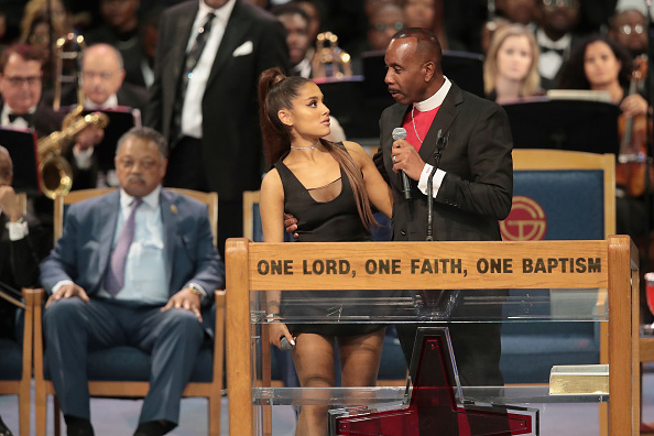 Ariana Grande「Soul Music Icon Aretha Franklin Honored During Her Funeral By Musicians And Dignitaries」:写真・画像(11)[壁紙.com]