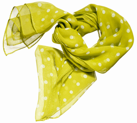 水玉「A sheer lime green scarf with white polka dots」:スマホ壁紙(16)